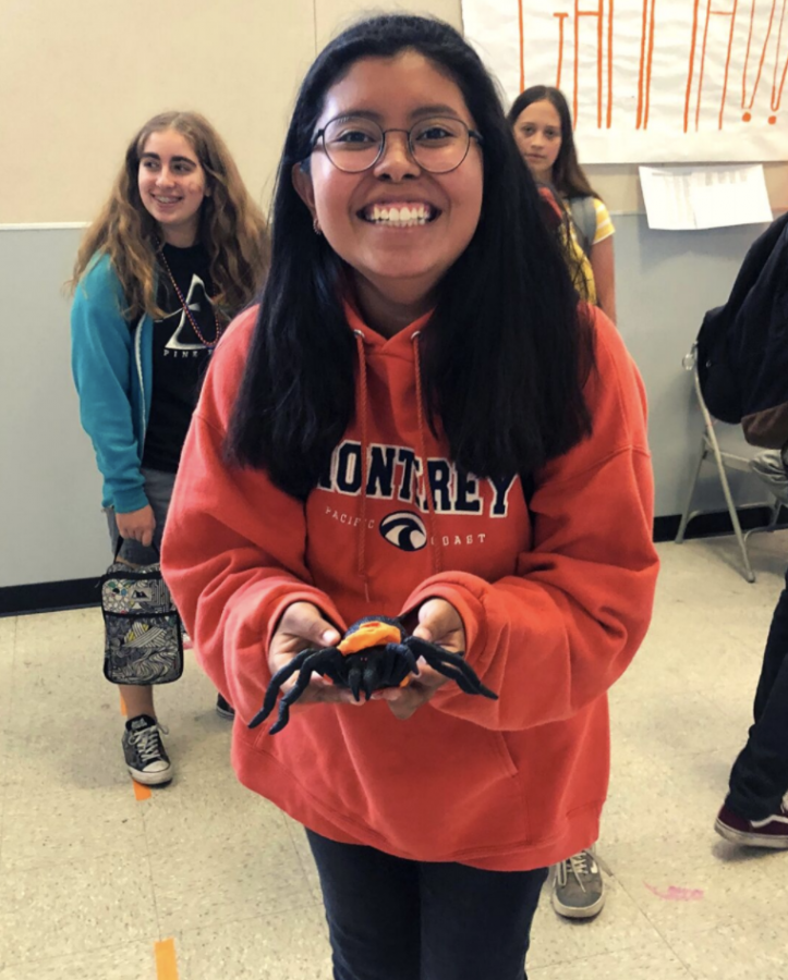 Emily Martinez and Arthur the spider took part in the festivities.