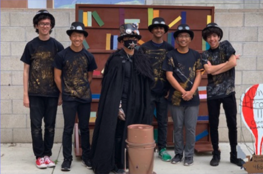 Group photo of The Odyssey of the Mind team.