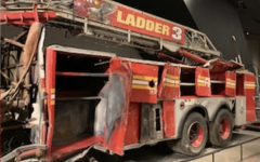 The remains of Ladder 3 are on display at The National September 11 Memorial in memory of the firefighters who died after responding to the attack.