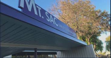 Angled view of the Mt. SAC Early College Academy sign
