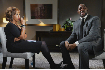 Gayle King interviewing R.Kelly for