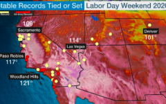 Highlights numerous notable temperature records from the Labor Day heat wave in California. Woodland Hills, in LA County, reached 121 degrees F.