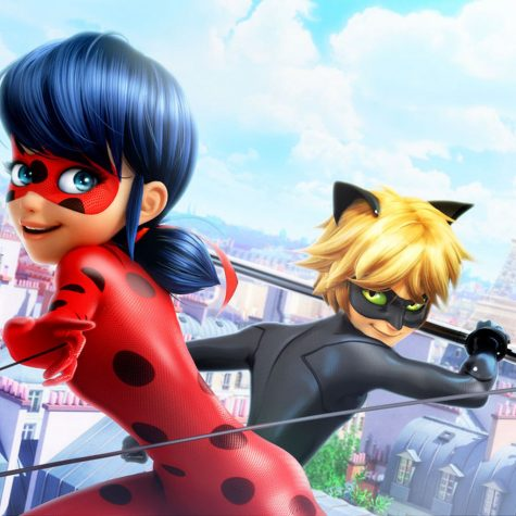 "The two main character of the animated french show ""Miraculous"""