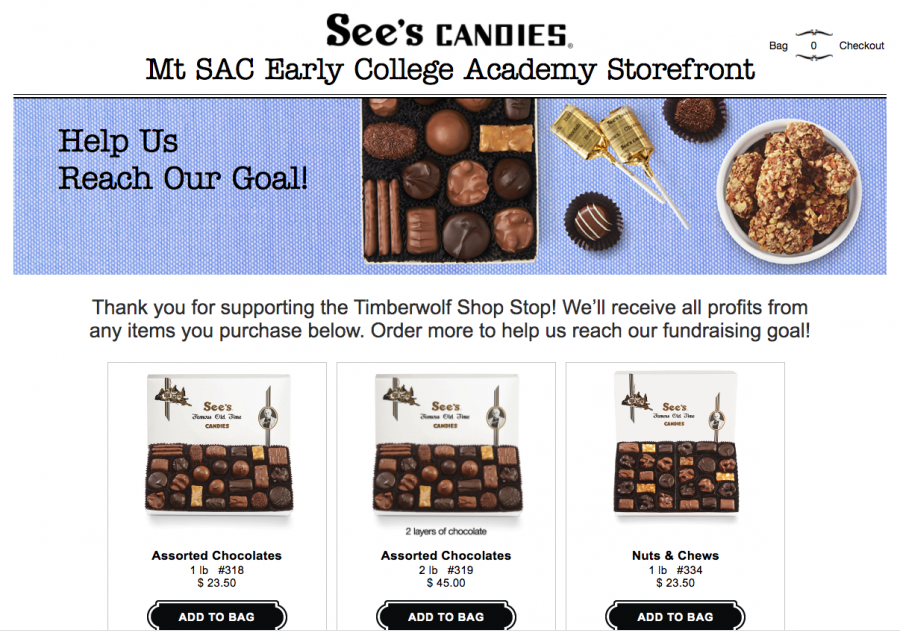 Visit the See's Candies site (link below) to help out ASB in creating more fun and community-building events for our Timberwolves.