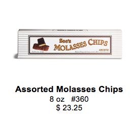 Ms. Bells favorite treat, Molasses Chips, is one of the 15 items for sale during the Yum-Raiser.