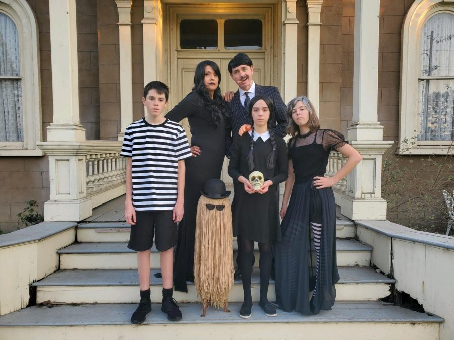 Matthew with his whole family dressed up as the Addams family for Halloween. It seems that the creativity of MECA's funniest DM runs in the family!