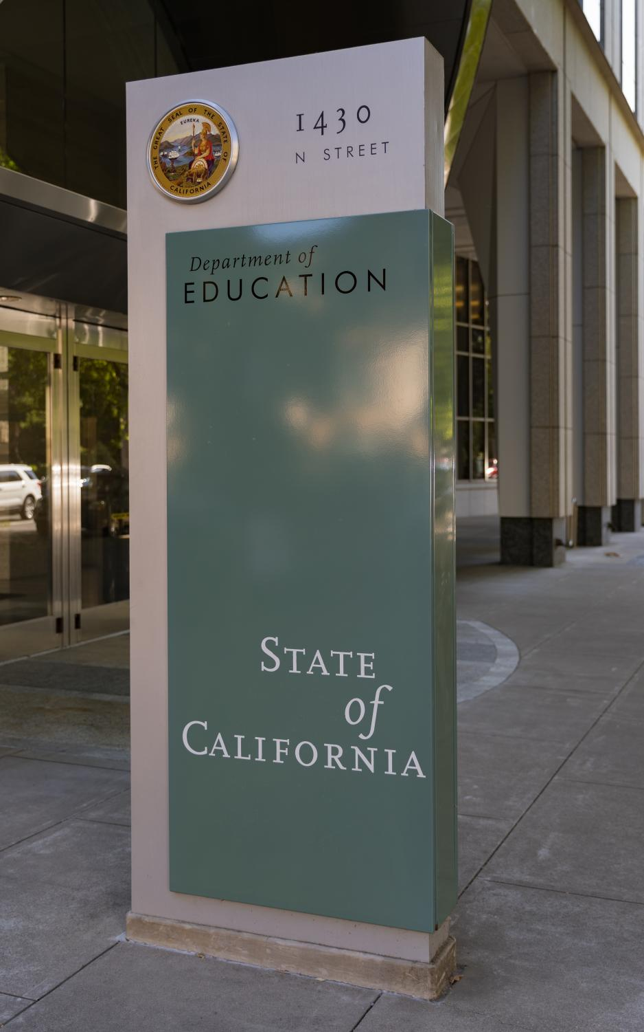 Sign for the California Department of Education