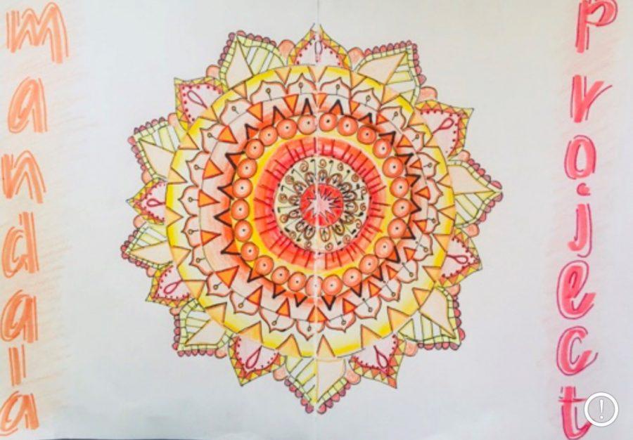 A colorful Mandala made by freshman, Charlize Cardona