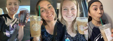 Ms. Wilcox, Ms. Hoffman, Ms. Sprague, and Ms. Yao love their Starbucks!