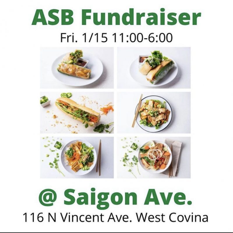 Past fundraiser held by ASB at a Vietnamese restaurant.
