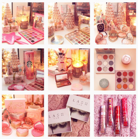 Lailani Gutierrez features recently received branded cosmetic packages through her Instagram blog: @beauty.lanis.