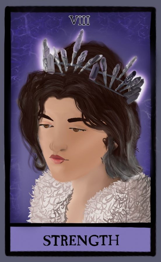 This artwork was digitally created by Amalie Esparza, visually illustrating Mare Barrow from The Red Queen Series.