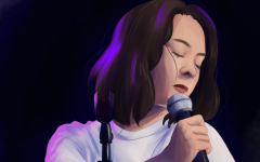 An artistic depiction of Mitski by Kelen Trieu.
