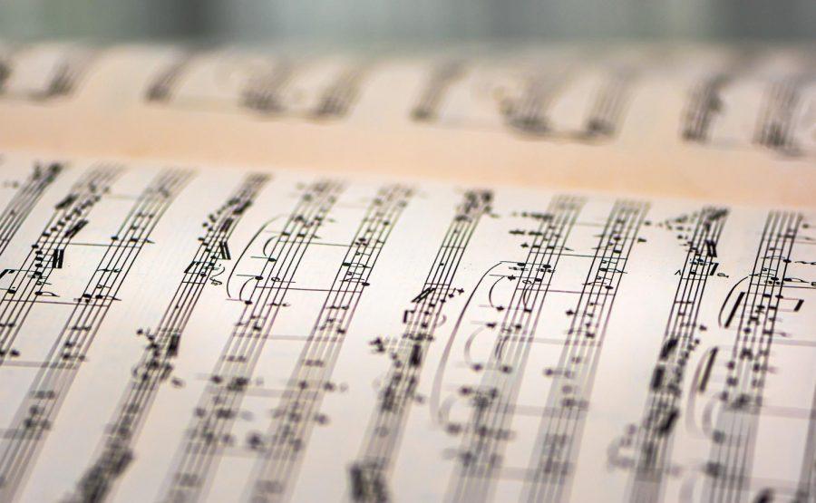 A book of sheet music