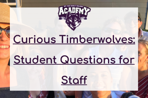 Curious students express pressing questions for the 2020 to 2021 Mt. SAC Early College  Academy staff depicted bonding within the featured image.