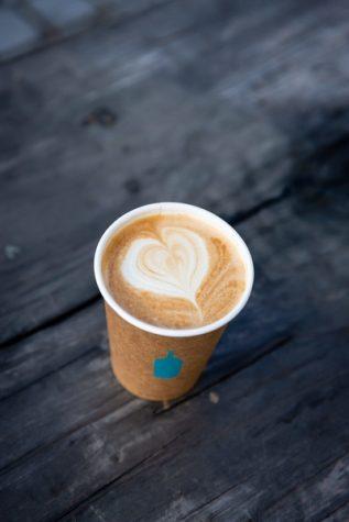 Oat Milk Latte + Blue Bottle Coffee