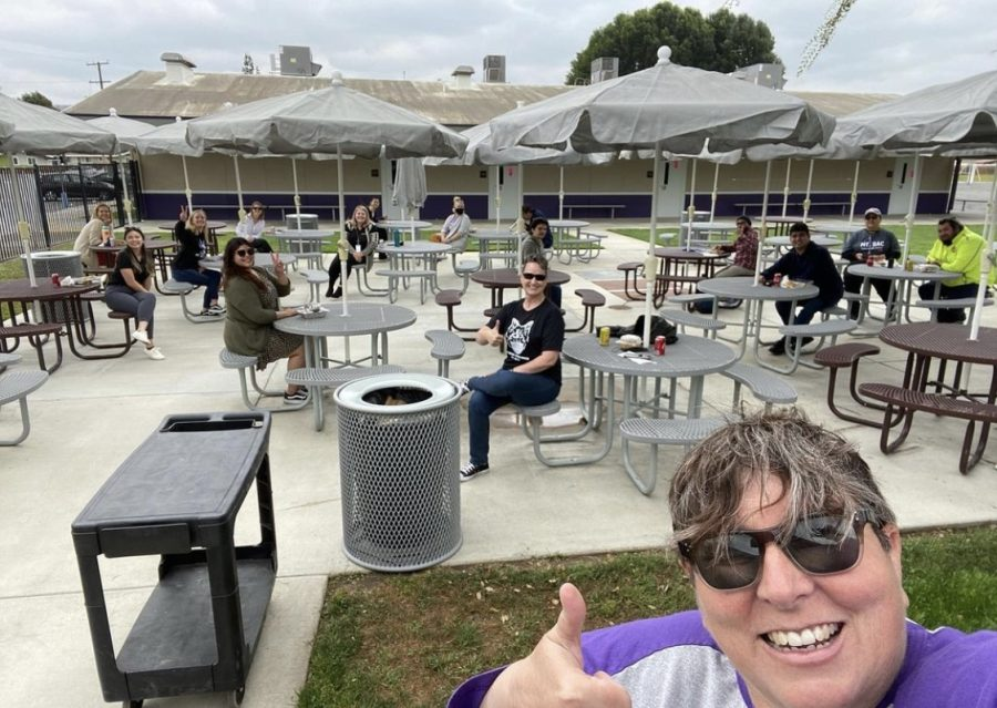 As the first school gathering during the 2021 year, Mt. SAC Early College Academy staff participate within a socially distanced lunch on campus!