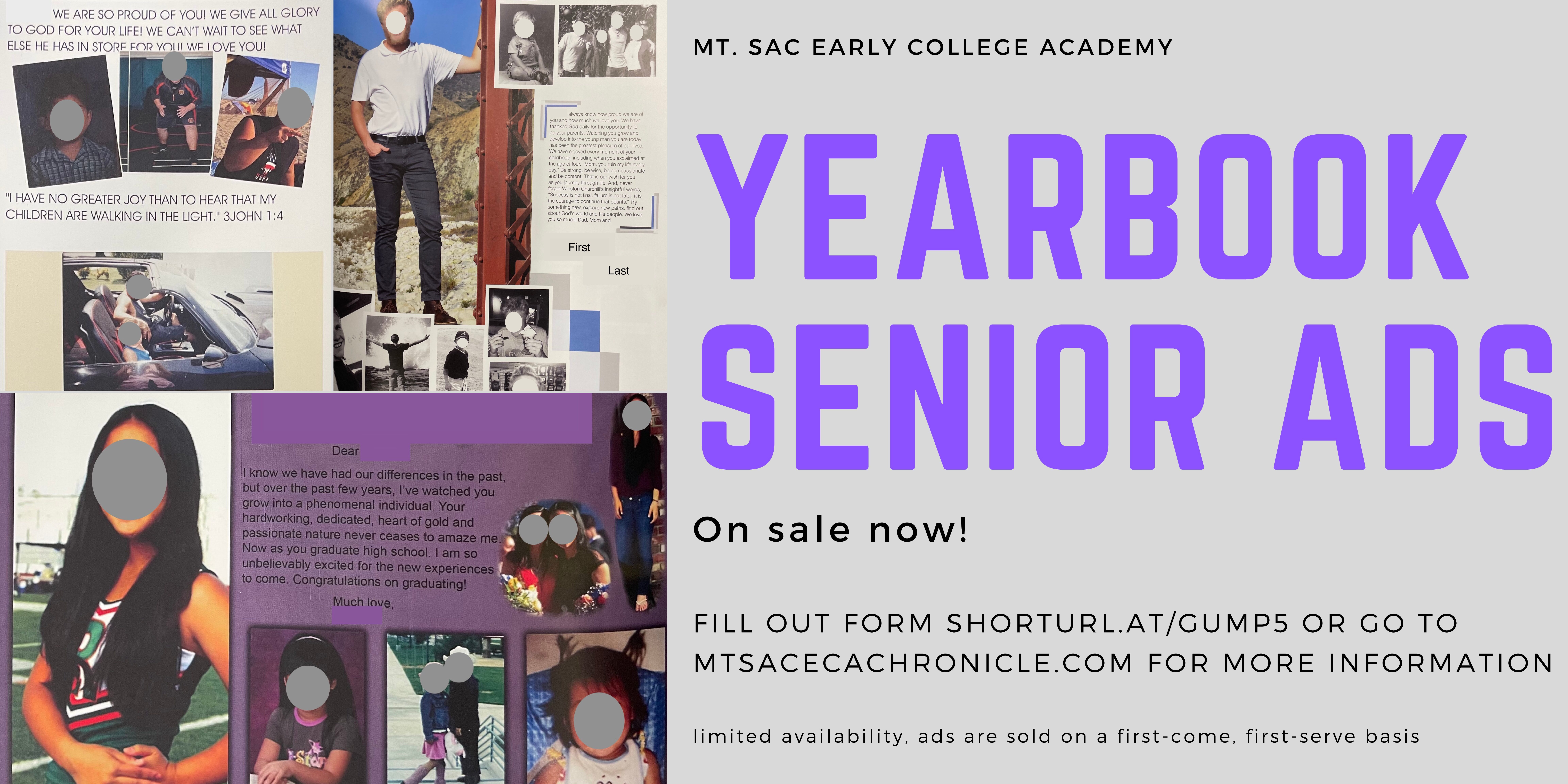 Yearbook Senior Ads